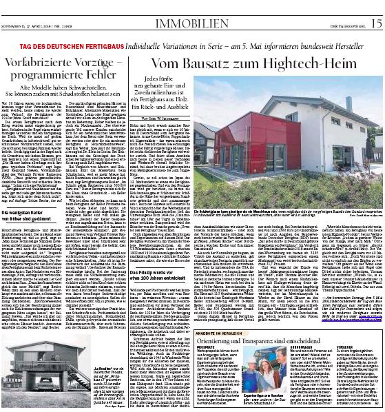 Zeitungsausschnitt vom Tagesspiegel mit Expertise von Tobias Beuler