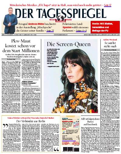 """Zeitungsausschnitt vom """"Der Tagesspiegel"""""""