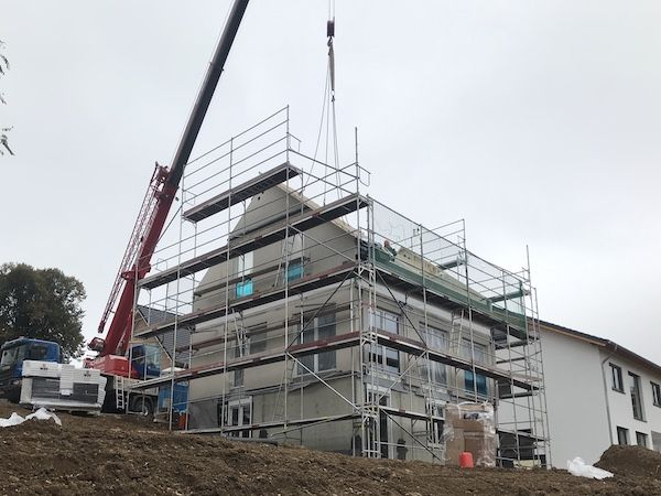 Neubau eines Hauses