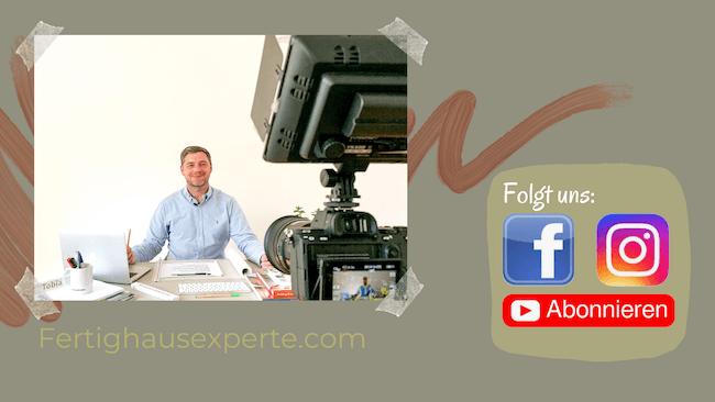 Die Social-Media Kanäle des Fertighausexperten Tobias Beuler