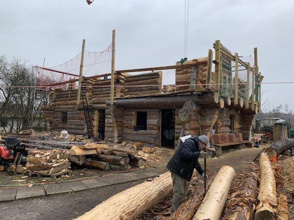Ein Haus in Holzbauweise