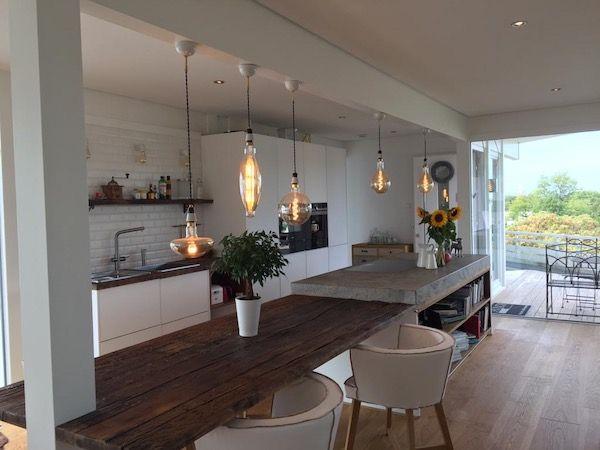 Eine schöne offene Küche