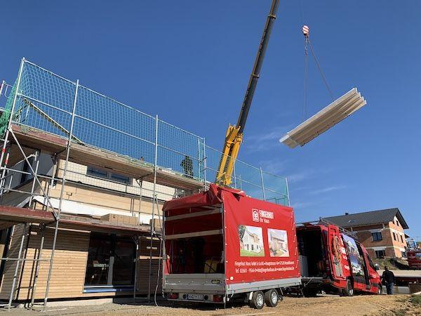 Aufbau eines Dachs