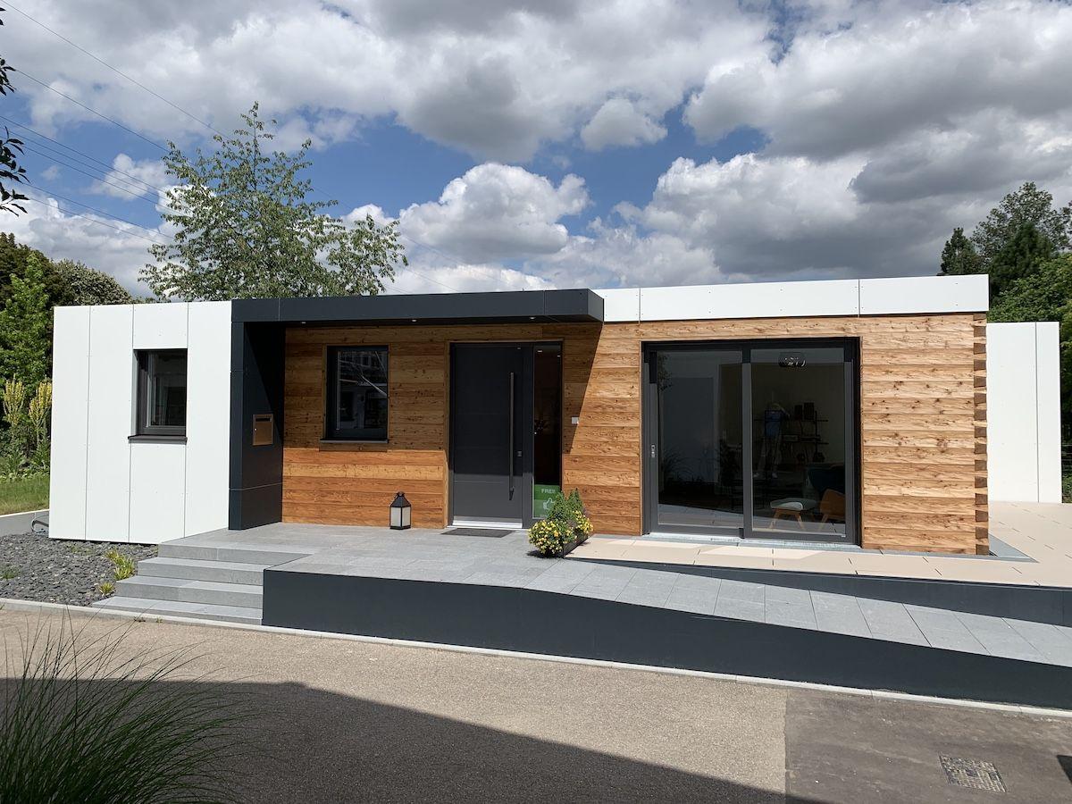 Ein Modulhaus aus Holz