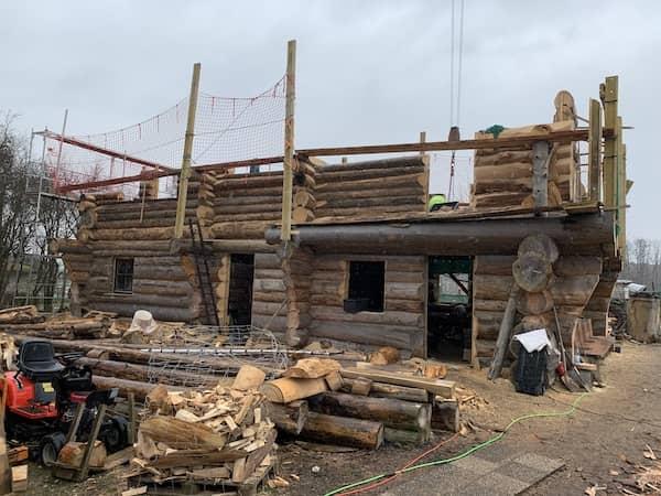 Ein neues Haus in Blockform
