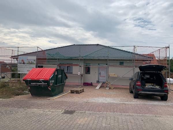 Eine Weber Haus Baustelle