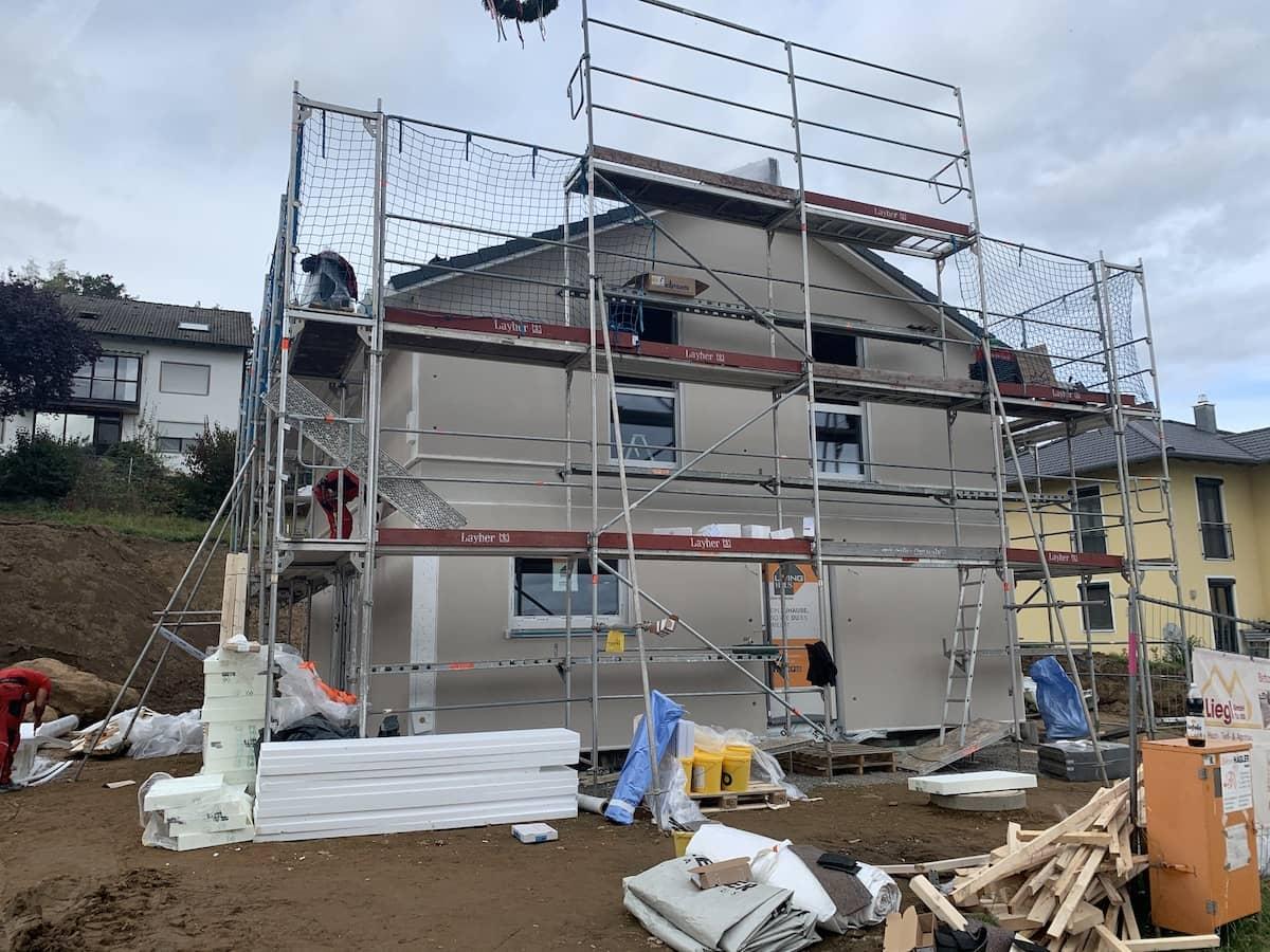 Eine Livinghaus Baustelle