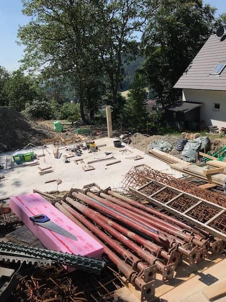 Polnische Fertighäuser Baustelle