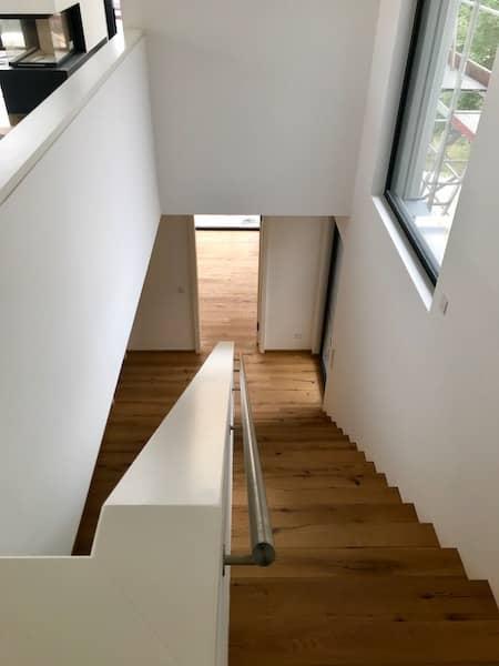 Eine Neubautreppe