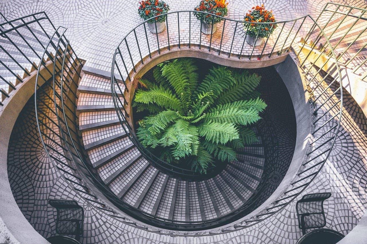 Eine große Treppe