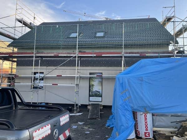 Eine neue Massa Haus Baustelle