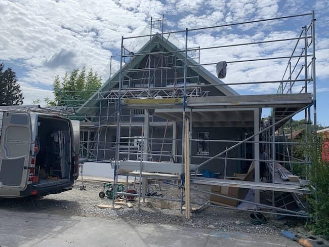 Ein Neubau von Baufritz Haus am Bodensee
