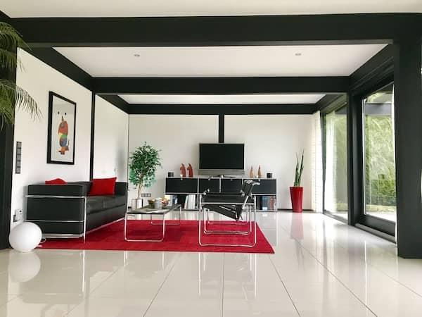 Ein schönes Wohnzimmer in einem Detmolder Haus