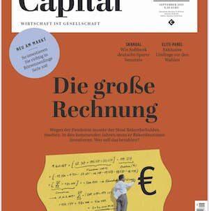 Deckblatt Capital September Ausgabe